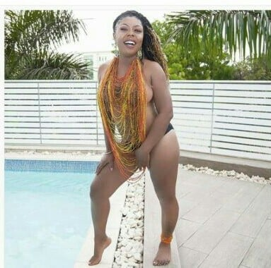 Afia Schwarzenegger goes semi-nude in new photos to tease Abrokwah and new girlfriend