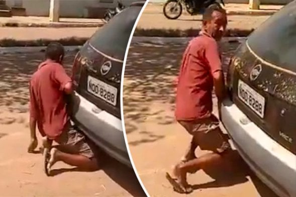 Photos: Man caught inserting his penis into car exhaust pipe