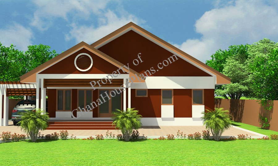 Country Side House Plan  Pre Order    Ghana House Plans     Country Side Ghana House Plan