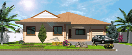 Four Bedroom House Plans 4 Bedroom House Plans Of 4 Bedroom Modern     Ghana house plans okyeame house plan for 4 bedroom modern house plans in  ghana