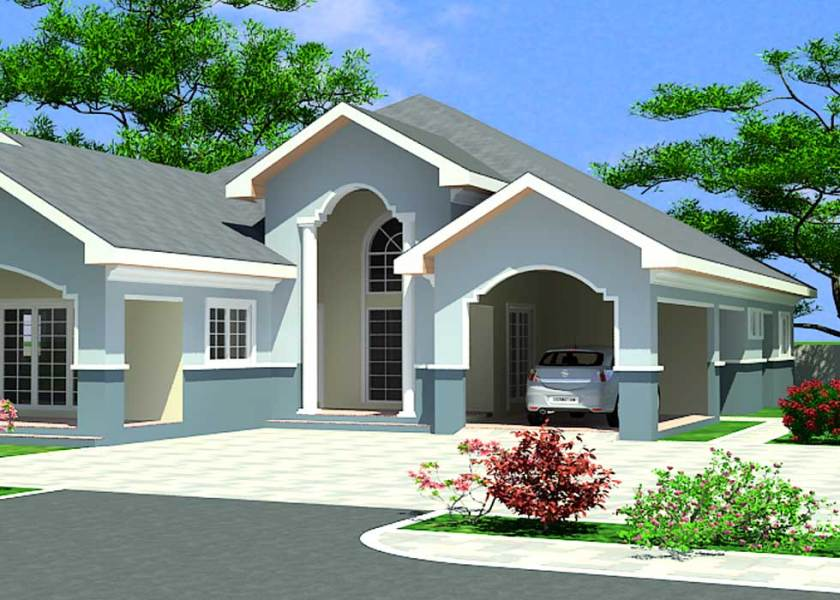 House Building Plans for Ghana  Chad  Gabon  Congo   More House Building Plans