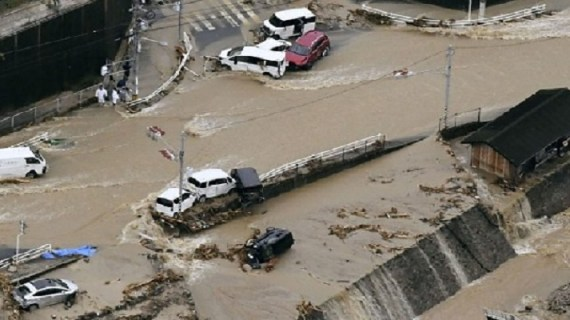 Japan floods: At least 60 killed in deluges and landslides