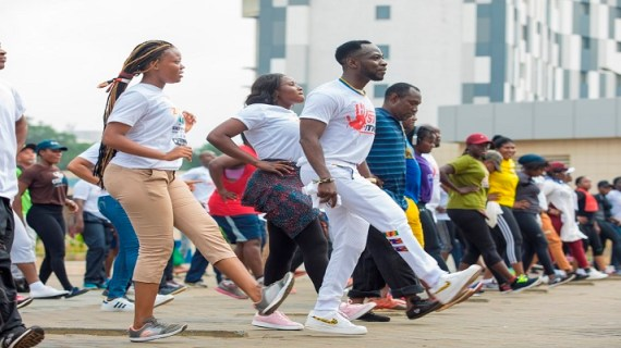 "Okyeame Kwame Makes Giant History as thousands Flood His Hepatitis B Health Walk and ""Free Screening"""