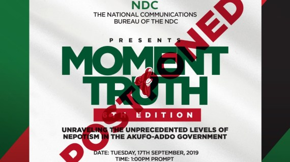 6th Edition of Moment of Truth Postponed