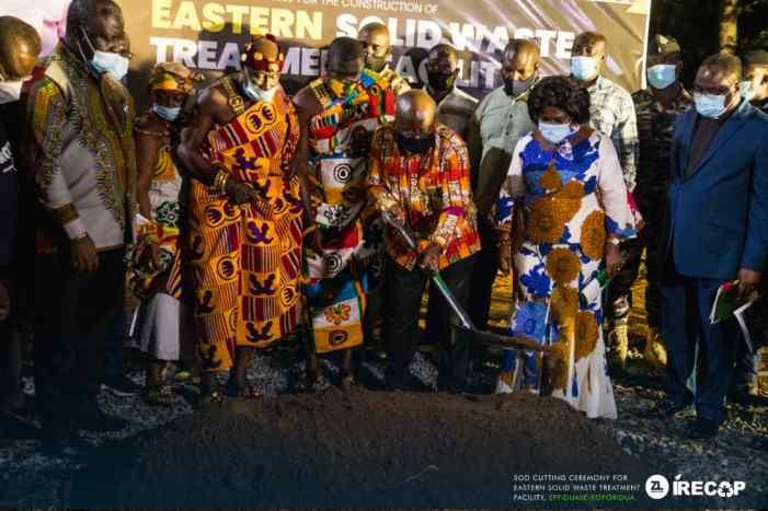 President Akufo-Addo Cuts Sod For 6th Solid Waste Treatment Facility In Eastern Region