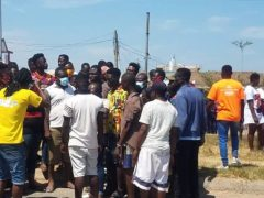 Awoshie Youth on run riot over non-functioning traffic lights after a Man was killed