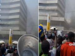 Ghana Commercial Bank, Kantamanto branch on fire (video)