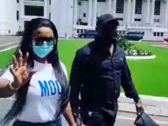 Watch How Nana Ama McBrown Stormed An Accra Circuit Court Today