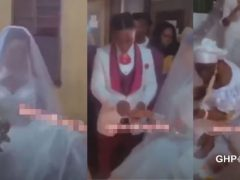 Video of a wedding ceremony happening in a shrine goes viral (VIDEO)