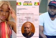 Efia Odo clashes with Kwadwo Sheldon for sharing fake documents claiming Mahama as a Sponsor for #FixTheCountry with Ghc 4.8M