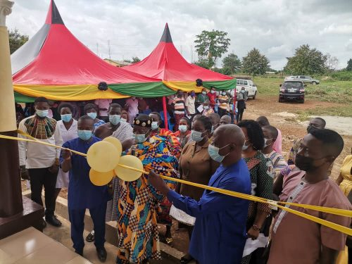 AHAFO REGIONAL MINISTER COMMISSIONS A COVID-19 ISOLATION CENTER AND A FEMALE HOSTEL AT DUAYAW NKWANTA AND TANOSO RESPECTIVELY
