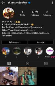 Shatta Wale Deletes and Unfollow Everyone on Instagram Except 2 People and Two Posts