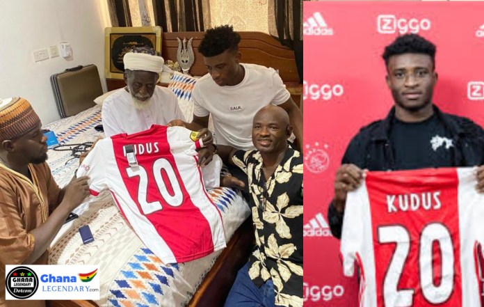 Ajax superstar Kudus Mohammed visits National Chief Imam for blessings