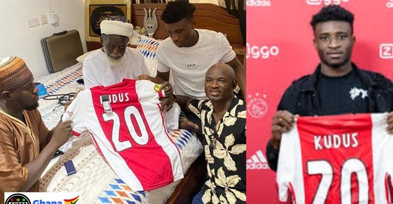 Ajax superstar Kudus Mohammed visits National Chief Imam prayers