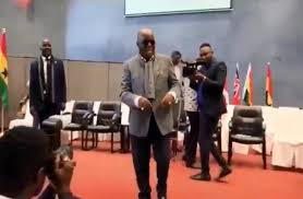 Akufo-Addo in 'victory dance moves' with NPP supporters in London