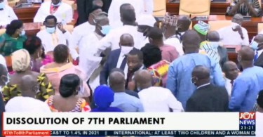 Fight erupts in Parliament over seating arrangement