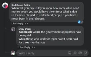 "EC officials - ""pay us now"" non-payment of allowance after 3 months"