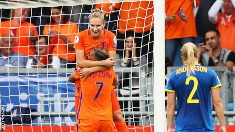 Women's Euro 2017: Netherlands 2-0 Sweden