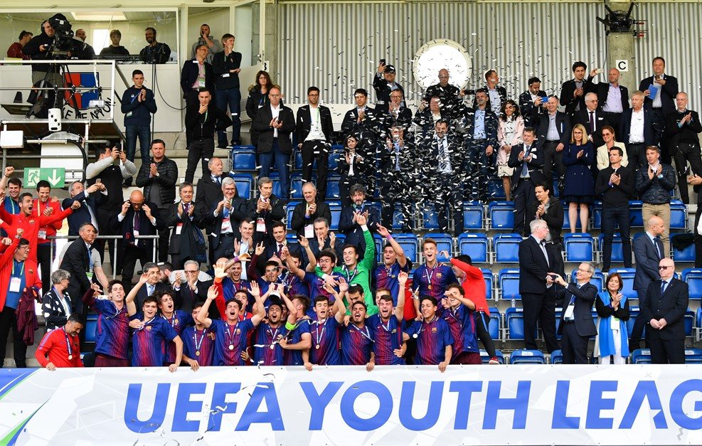 Chelsea youngsters lose to Barcelona in Uefa Youth League final