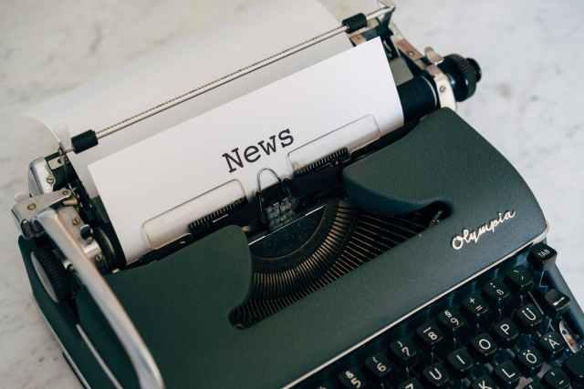 news typewritten on white paper