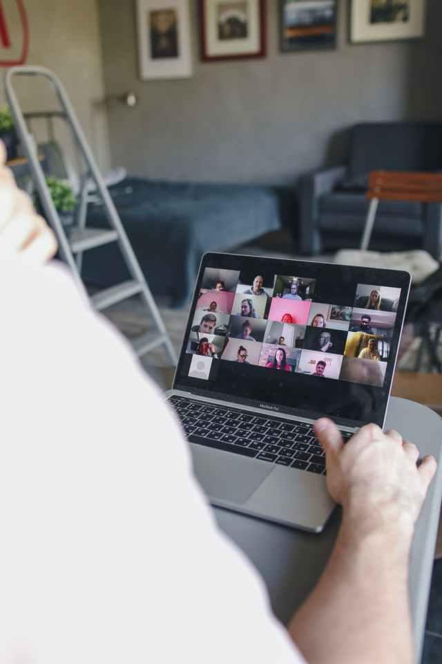 man people woman laptop