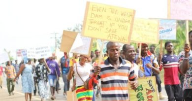 Scores march against bauxite mining in Atewa forest