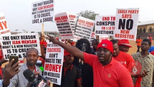 "New Voters' Roll: Opposition Parties rock Kumasi with ""Yempini"" Demo"