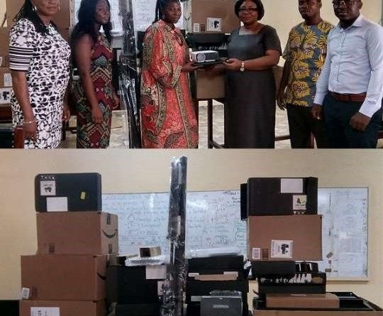 Philanthropists donate laptops to cluster of schools
