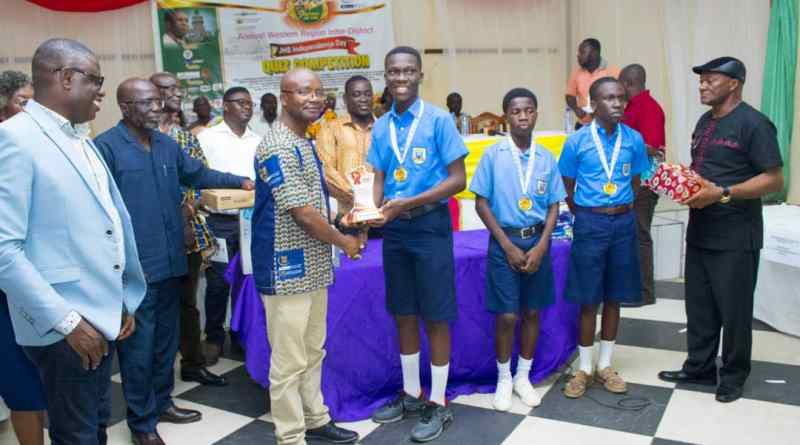 Tarkwa UMat Basic School retains Western Region Inter-District Quiz title