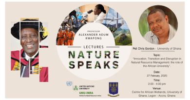 UNU-INRA to Hold Prof Kwapong Lecture Dubbed 'Nature Speaks' today