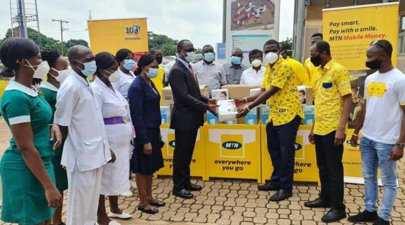 "MTN Ghana Foundation boosts ""Wear It For Me"" Campaign with Donation of 88,000 Face Masks to Health Workers."