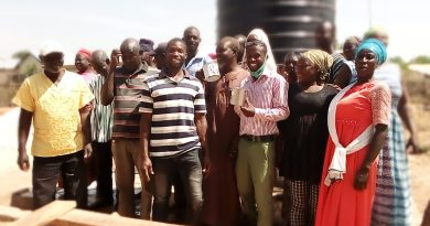 Assemblyman for Canteen presents Mechanized Borehole to Kunsawgu