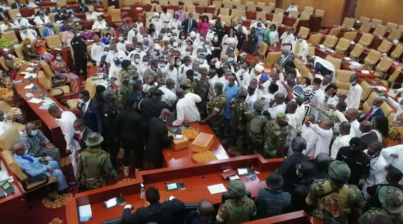 Ghana: Armed Military men take over as confusion rocks inauguration of 8th Parliament