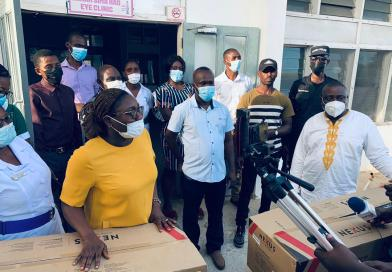 MP donates Air Conditioners to Eye Clinic at Keta