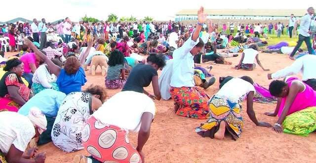 Church members evicted by armed police officers while worshipping
