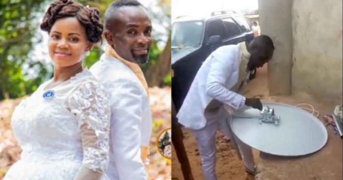 VIDEO: Man leaves bride and guests at wedding venue to fix DSTV for special client