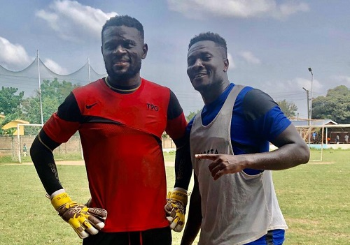 Asamoah Gyan: New signing trains with his Legon Cities teammates for the first time