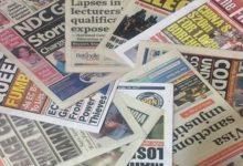 Newspaper Headlines Of Today