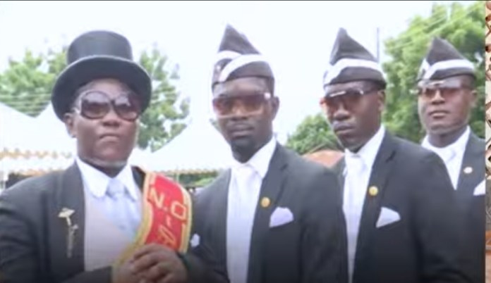 Ghana pallbearer comic video