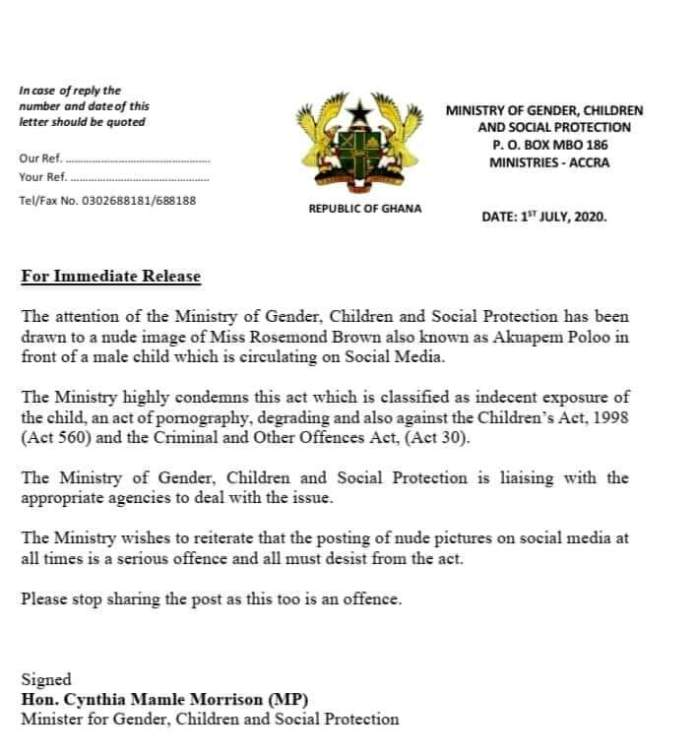 Ministry of Gender, Children and Social Protection