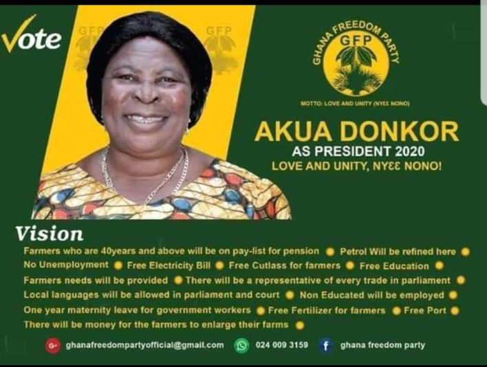 Akua Donkor Names Adakabre Frimpong Manso As Her Running Mate Ahead Of 2020 Polls