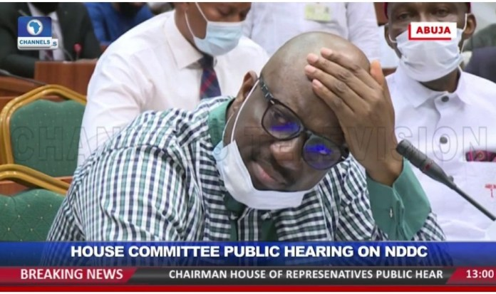 Nigerian government official collapsed on TV while answering questions on mismanagement of COVID-19 funds