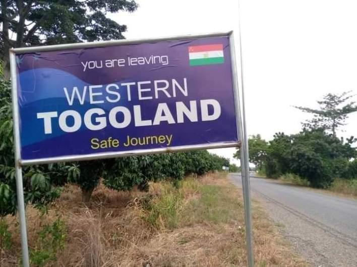 Western Togoland billboards pop up.