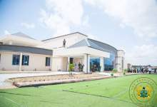 Prez. Akufo-Addo visited the Pantang COVID-19 Treatment Facility to present 10,000 bed to hospitals across the country