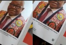 Dignitaries were surprised As Inauguration Ceremony Program Brochures Were Already Printed With Mike Oquaye's Photo