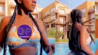 Stunning Photo Of Hajia Bintu Pop Up Online While Swimming (Video)