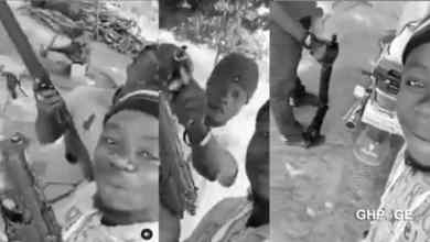 Armed robbers warning in a video Ghanaians goes viral