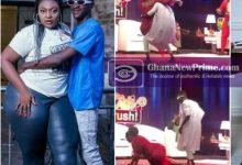 [Watch Video] Date Rush Ali falls on stage in failed attempt to lift Shemina on live TV