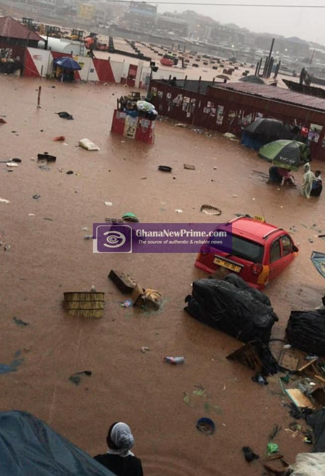 Current State of Kumasi Kejetia after Heavy Downpour