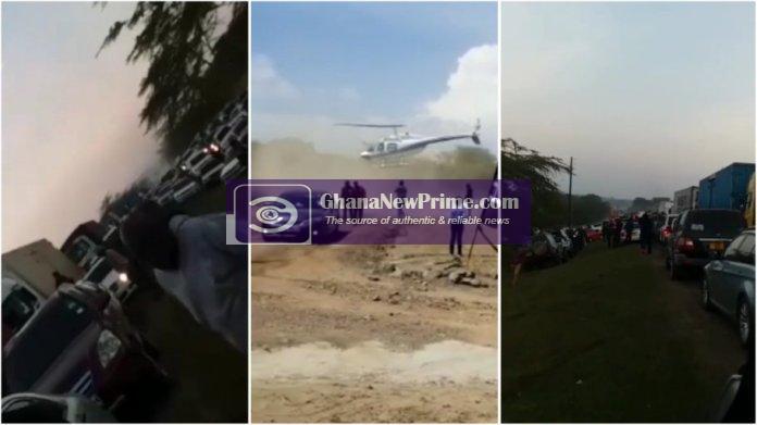 Kenyan man causes stir after ordering chopper to beat heavy traffic in Naivasha [Video]